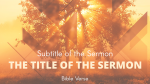 Kingdom of God sermon title 16x9 PowerPoint image
