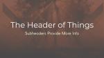 Kingdom of God header subheader 16x9 PowerPoint image