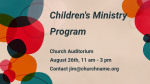 Join Us At Church Name Kids children's ministry program announcement 16x9 38cabea7 99ea 4302 9f0b f3153073835d PowerPoint Photoshop image
