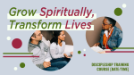 Grow Spiritually Transform Lives  PowerPoint image 1