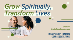 Grow Spiritually Transform Lives  PowerPoint image 3