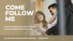 Come, Follow Me  PowerPoint image 7