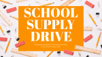 School Supply Drive Yellow  PowerPoint image 1