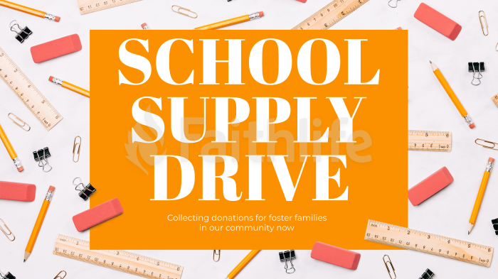 School Supply Drive Yellow large preview