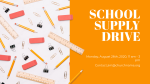 School Supply Drive Yellow  PowerPoint image 2