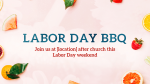 Labor Day BBQ  PowerPoint image 1