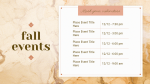 Fall Events  PowerPoint image 1
