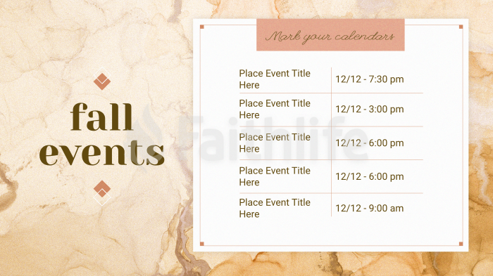 Fall Events large preview
