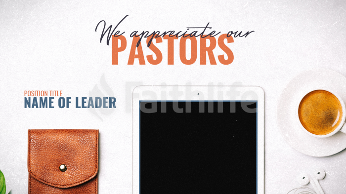 We Appreciate Our Pastors large preview