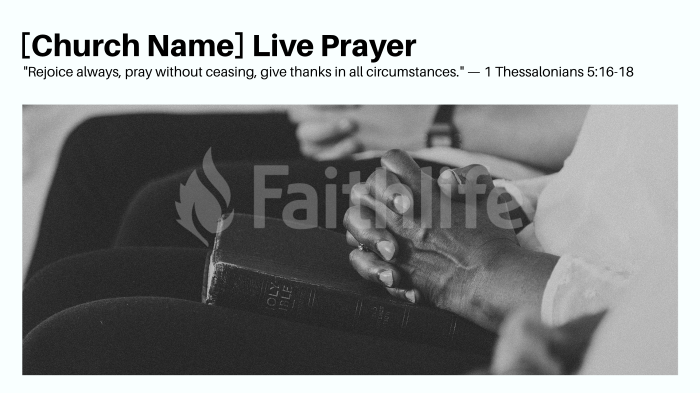 [Church Name] Live Prayer large preview
