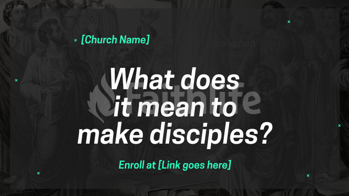 What Does it Mean to Make Disciples large preview