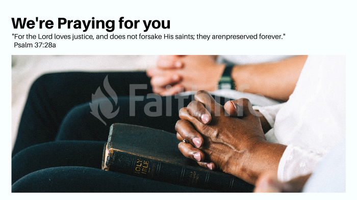 We're Praying for You large preview
