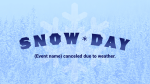 Snow Day Flakes  PowerPoint image 1