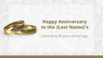 Happy Anniversary Gold  PowerPoint image 1