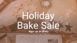 Holiday Bake Sale  PowerPoint image 1