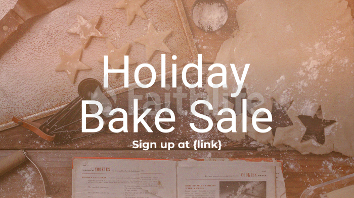 Holiday Bake Sale large preview