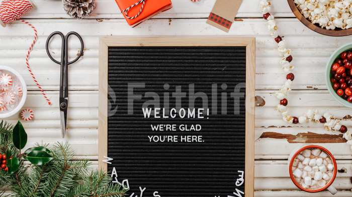 Welcome Letterboard large preview