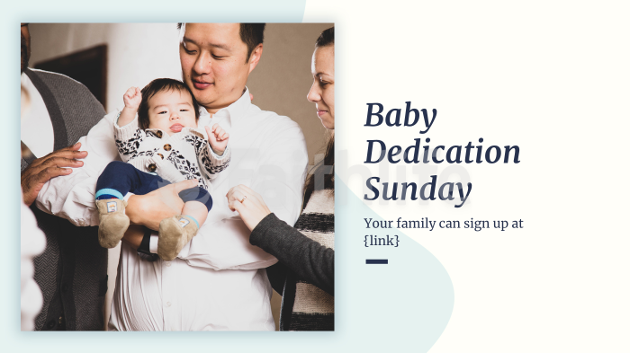 Baby Dedication Sunday large preview