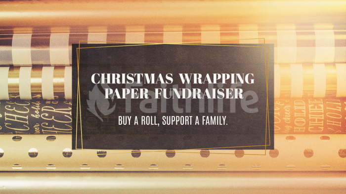 Christmas Wrapping Paper Fundraiser large preview