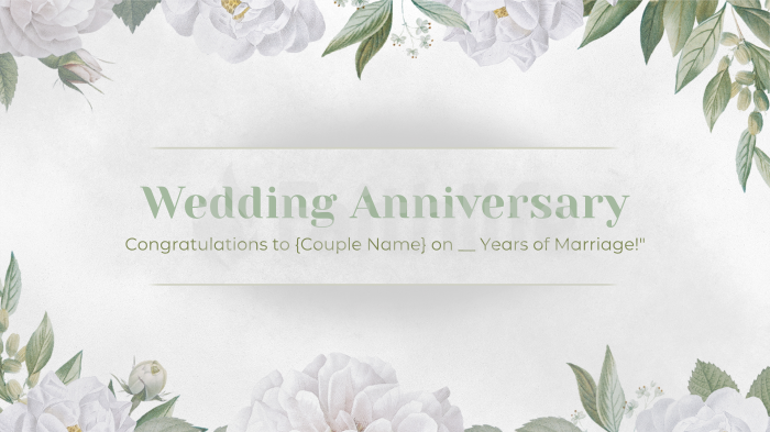 Wedding Anniversary White large preview