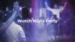 Watch Night Party Purple  PowerPoint image 1
