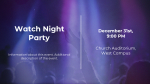 Watch Night Party Purple  PowerPoint image 2