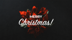 Merry Christmas Flowers  PowerPoint image 1