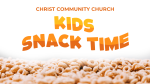 Kids Snack Time  PowerPoint image 1