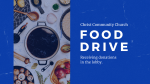 Church Name Food Drive  PowerPoint image 1