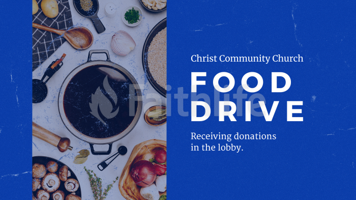 Church Name Food Drive large preview