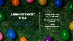 Church Name Easter Egg Hunt  PowerPoint image 2