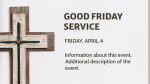 Good Friday Service Times  PowerPoint image 3