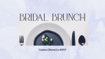 Bridal Brunch  PowerPoint image 1