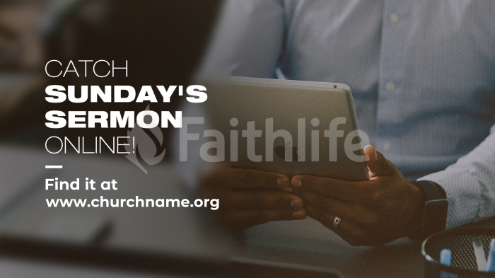 Catch Sunday's Sermon Online large preview