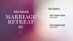 Church Name Marriage Retreat White  PowerPoint image 1