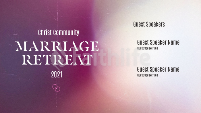 Church Name Marriage Retreat White large preview