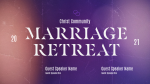 Church Name Marriage Retreat Blue  PowerPoint image 1