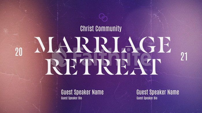 Church Name Marriage Retreat Blue large preview