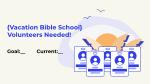 Volunteers Needed Cards Blue  PowerPoint image 1