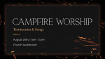 Campfire Worship Flames  PowerPoint image 4