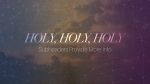 Holy Holy Holy  PowerPoint image 13