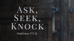 Ask, Seek, Knock  PowerPoint Photoshop image 1