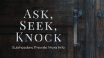 Ask, Seek, Knock  PowerPoint Photoshop image 10