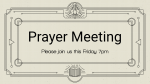 Prayer Meeting - Illustration  PowerPoint Photoshop image 1
