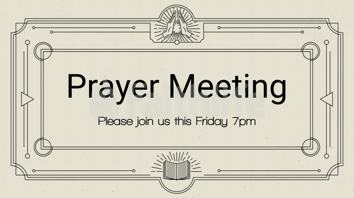 Prayer Meeting - Illustration large preview