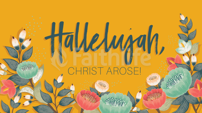 Hallelujah, Christ Arose large preview