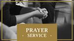 Prayer Service  Gold 16x9 PowerPoint image