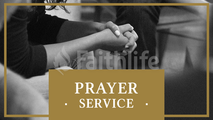 Prayer Service - Gold large preview
