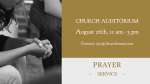 Prayer Service  Gold announcement 16x9 PowerPoint image