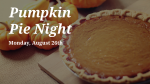 Pumpkin Pie Night  PowerPoint image 1